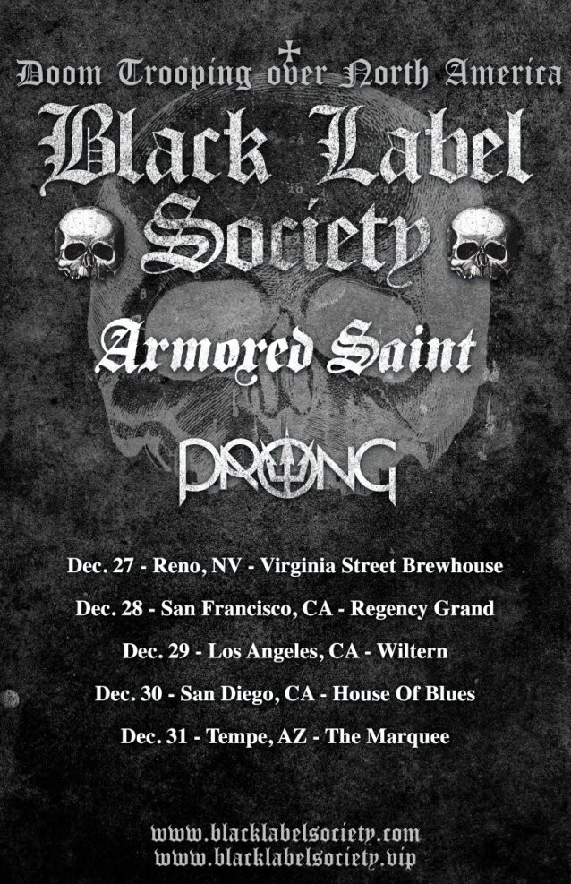 armored saint black label society tour dates, ARMORED SAINT Announce 2021 Tour Dates With BLACK LABEL SOCIETY And PRONG