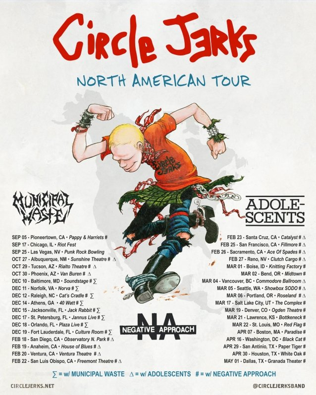 circle jerks tour dates, CIRCLE JERKS Announce North American Tour Dates For 2021-2022