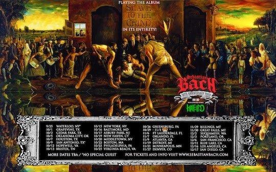 sebastian bach tour dates 2021, SEBASTIAN BACH Announces Fall 2021 'Slave To The Grind' 30th-Anniversary Tour