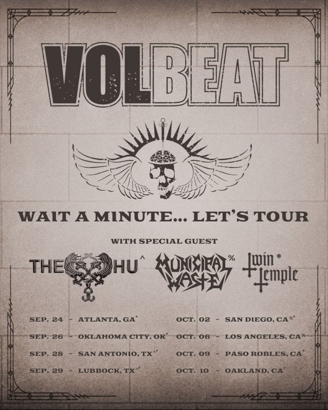 volbeat tour dates 2021, VOLBEAT Announce Fall 2021 U.S. Headlining Tour
